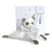 Doudou - Traumfänger Panda Schmusetuch 20cm