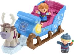 Mattel GGV30 Fisher-Price Little People Frozen Kristoffs Schlitten