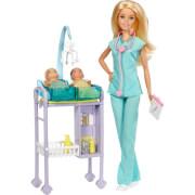 Mattel DVG10 Barbie Kinderärztin Puppe und Spielset