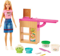 Mattel GHK43 Barbie Noodle Maker Doll (blond) and Playset