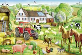 Schmidt Puzzle 56003 Fröhlicher Bauernhof, 100 Teile, ab 6 Jahre