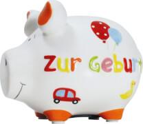 Sparschwein ''Zur Geburt'' - Kleinschwein von KCG - Höhe ca. 9 cm