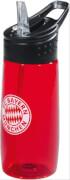 FCB Trinkflasche transparent rot 0,5l
