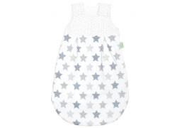 Schlafsack Sterne silber, Größe 90 cm